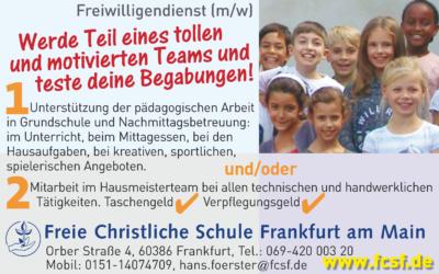 Freiwilligendienst an der FCSF