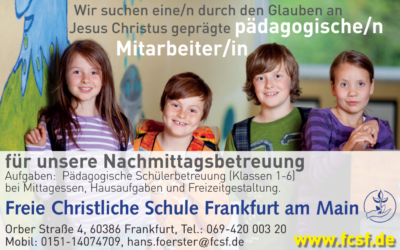 Pädagogische Mitarbeiter/in gesucht!